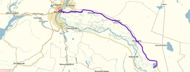 Схема проезда до села