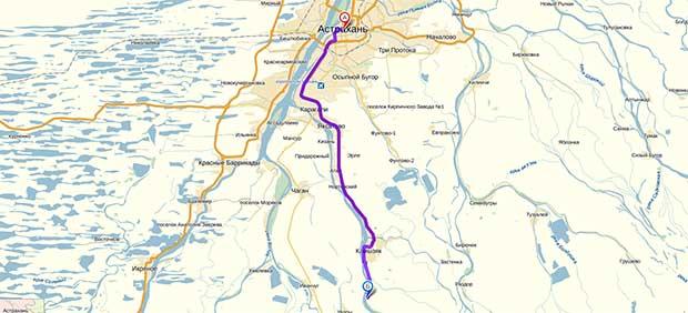 Карта-схема проезда из