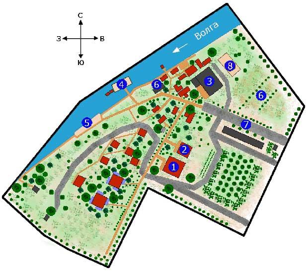 Схема домиков базы отдыха бережок