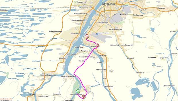 Карта-схема проезда от выезда