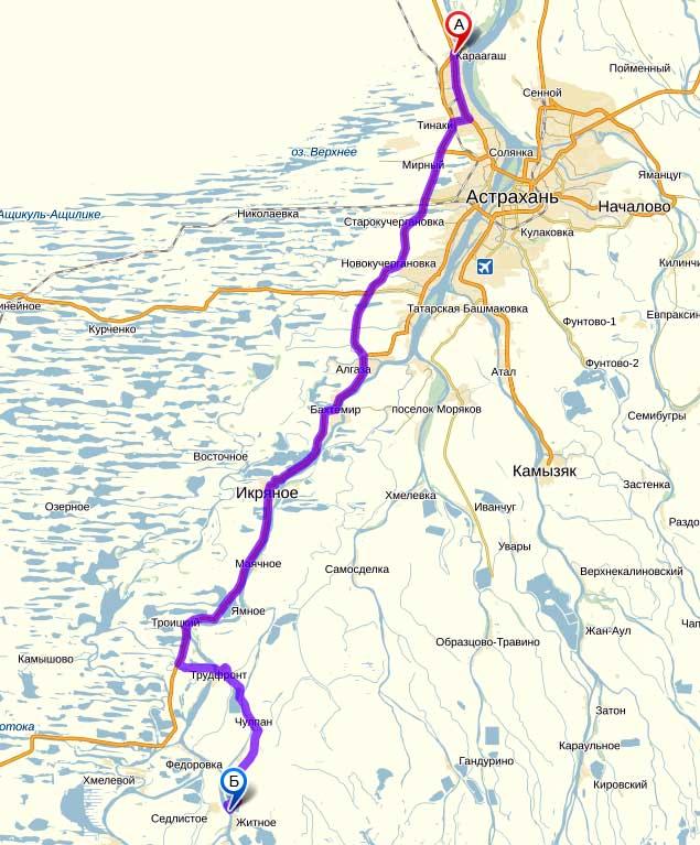 Карта-схема проезда на базу «