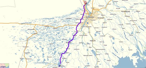 Карта-схема проезда до посёлка